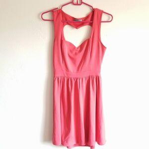 Heart Cut-Out Swing Dress